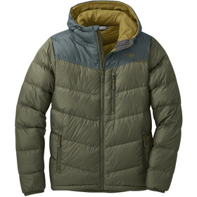 Outdoor Research Transcendent Chaqueta Capucha Hombre, fatigue/fir